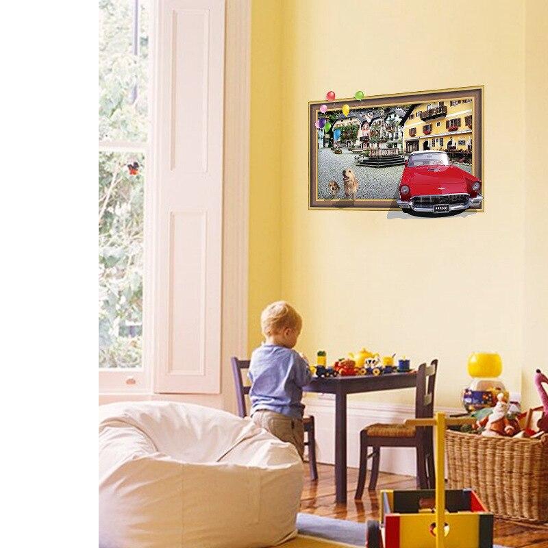 3D city landscape style children bedroom entrance bedroom decoration ...
