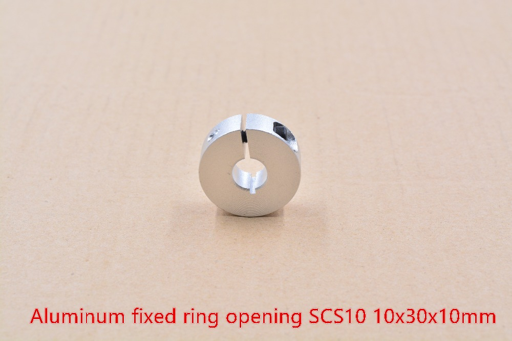 Aluminum alloy clamping ring opening type SCS10 10mm ring optic axis clap collar linear shaft seat 10mmx30mmx10mm 1pcs image