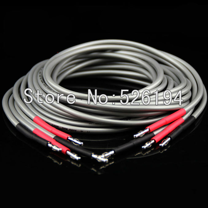 DHL Free shipping 3meter pair Audio note speaker cable Audio Note AN-SPXII banana terminal speaker cables with original box цена