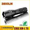 100% Подлинные E17 2400 Люмен 5-режим CREE XM-L T6 СВЕТОДИОДНЫЙ Фонарик Масштабируемые Фокус Факел на 1*18650 или 3 * AAA