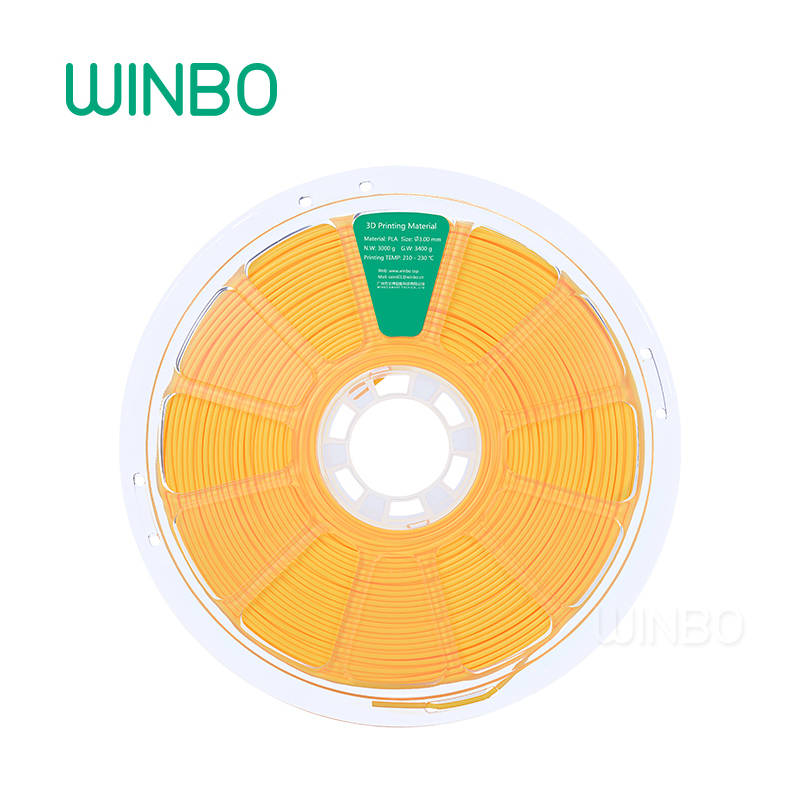3D Printer PLA filament 3mm 3 kg YELLOW Winbo 3D plastic filament Eco-friendly Food grade 3D printing materials Free Shipping 3d printer filament brown colour environmentally friendly plastic materials for 3d printer