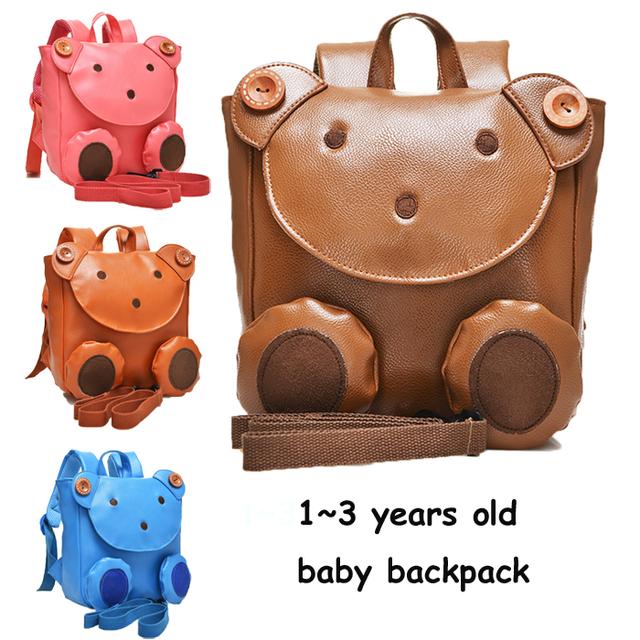 Da Criança do bebê Kid Criança Dos Desenhos Animados Mochila Schoolbag Sacos de Ombro Com Alça de Segurança Da Escola Satchel Mochila
