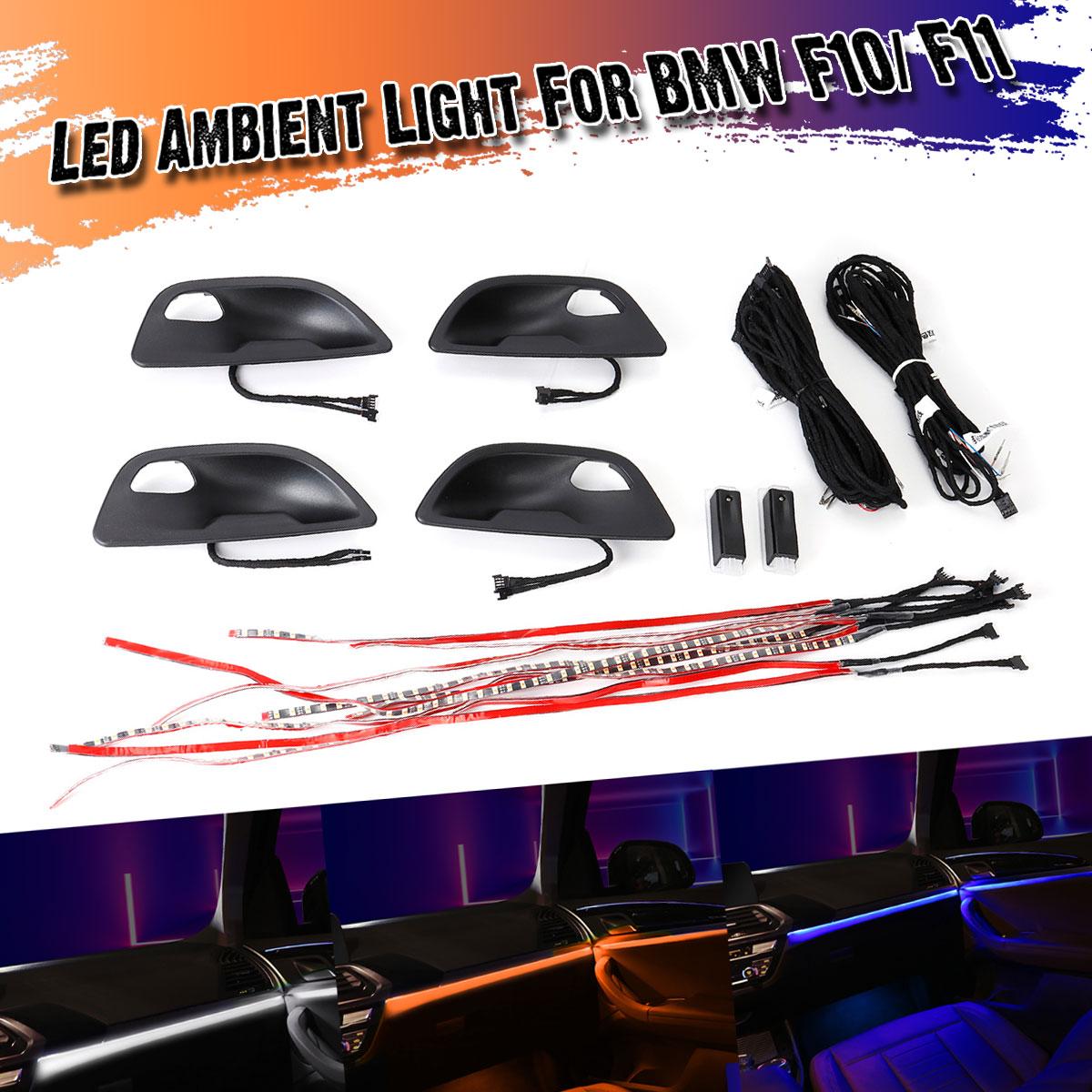 3 couleurs LED Ambiante Lumières pour BMW F10/F11 Voiture Porte Intérieure Tasses LED Atmosphère Lumière Lampe Décorative Mise À Niveau