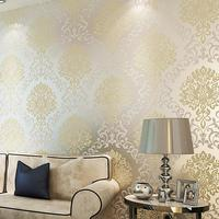 SIA Wallpaper Rolls European Style Wallpaper Environmental Non Woven Wall Covering 3D Floral Tapete Rolls Bedroom
