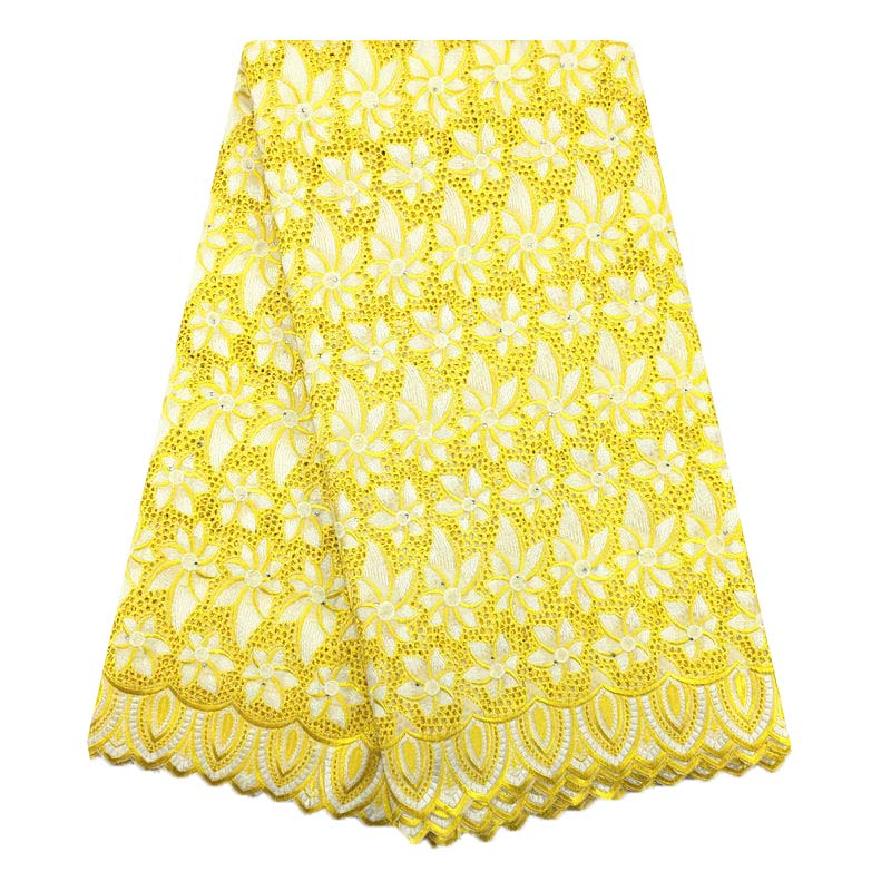 Eyelet Swiss Voile Lace Fabric With Stones Soft Embroidery 028 Men Women Dry Voile Lace Materials