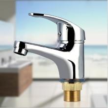 Envío gratis sola manija grifo del fregadero del lavabo del grifo de agua de baño de aleación de zinc con cromo pulido baño cuenca grifo del fregadero