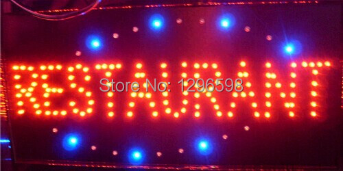 2017 hot sale customed low power 10X19 inch semi-outdoor Ultra Bright LED restaurant advertising signs