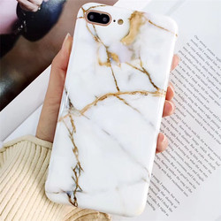 New Luxury Glossy Marble Veins Phone Case For iPhone X 6 6S 7 8 Plus For iPhone X Cases Fashion Dreamlike TPU Cover Capa Fundas