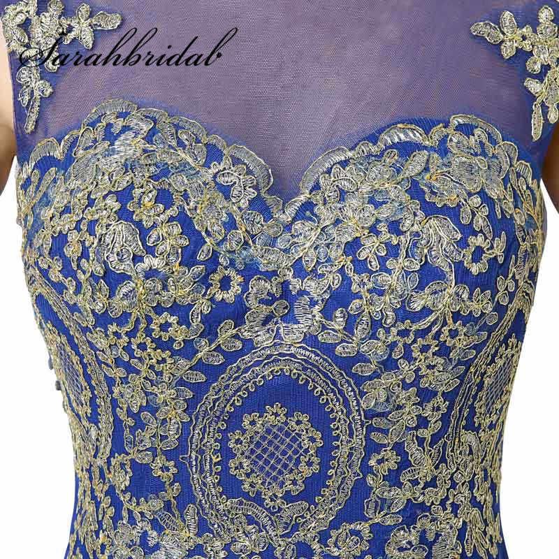 Barato Sereia Vestidos De Noite Borgonha Longo Ouro Lace Robe De Soiree Chiffon Tanque Fita Prom Partido Vestidos Real Photo XU039