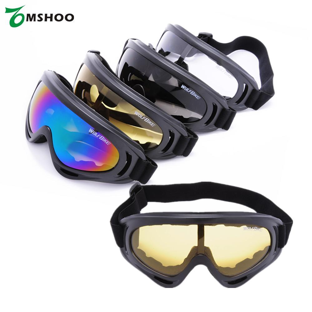 Prix pour UV400 Unisexe Lunettes Lunettes De Sécurité lunettes de Soleil pour le Patinage Ski Vélo D'équitation en Plein air Activités Noir Écran De Snowboard