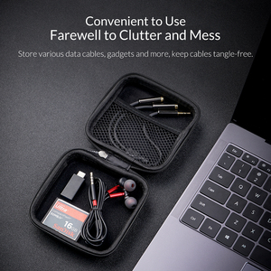 Image 4 - ORICO אוזניות בעל מקרה שקית אוזניות אביזרי נייד לחץ הלם קליטה USB כבל נתונים אחסון חבילה תיק