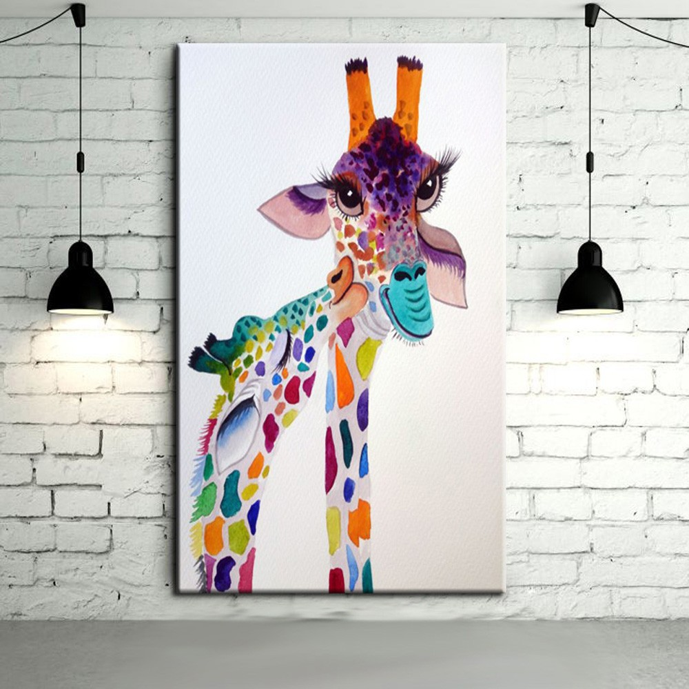 Modern Abstract Art Hang Pictures Handpainted Lovely Baby