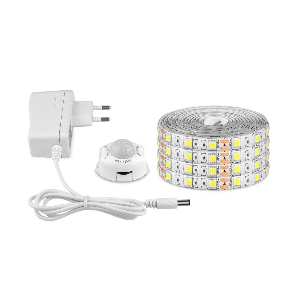 12V Sensor LED Under Cabinet Light Bed Lamp Wireless Motion Sensor Night Lamp  1M 2M 3M 4M 5M With EU US Power Supply Under-cabinet lighting