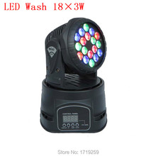 Envío rápido 18×3 w CREE LED RGB mini Cabeza Móvil Wash Luz Principal Móvil de Luz Para El Evento, Disco Party Club Nocturno
