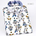 FOREMOST Brand clothing Beautifully printed boutique short sleeve shirt Korean style new fashion trend quality men shirt M-5XL
