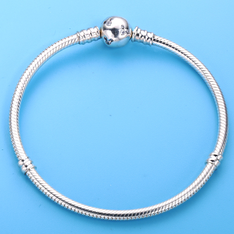 Genuine 100% 925 Sterling Silver Mickey Pandora Bracelet For Women Fit Diy Charms Beads Bracelet Jewelry Original Gift