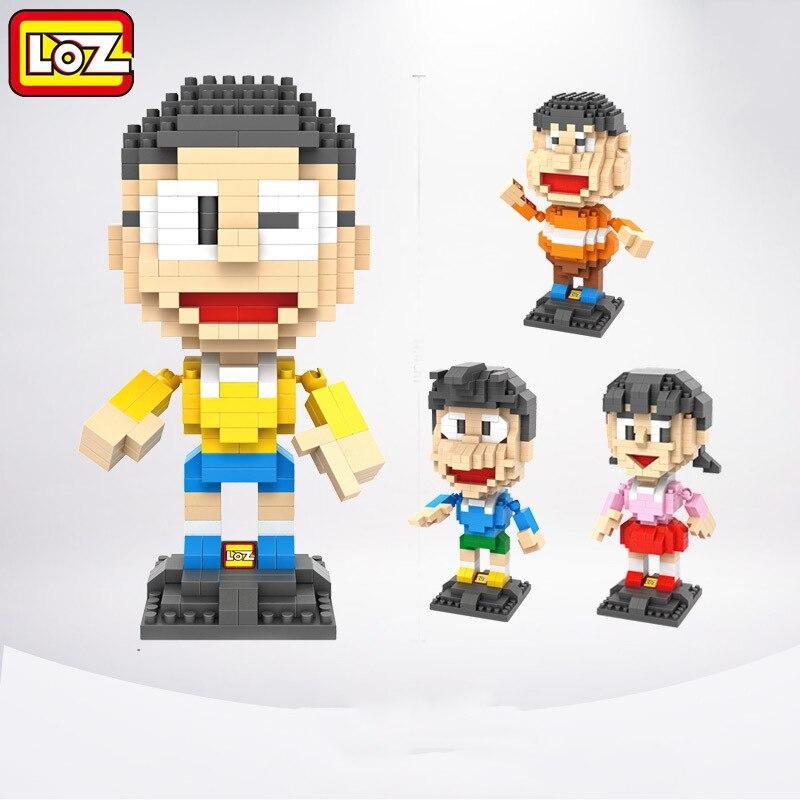 4pcs/lot LOZ Diamond Building Blocks Doraemon Doraemon Mini 3D DIY Bricks Assemble Toys For Children Learning & Educational