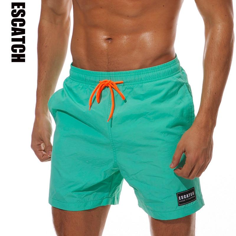 Summer Beach Trunks Men Swimming Pants Swimsuit Outdoor Mens Swimwear Racing Fitness