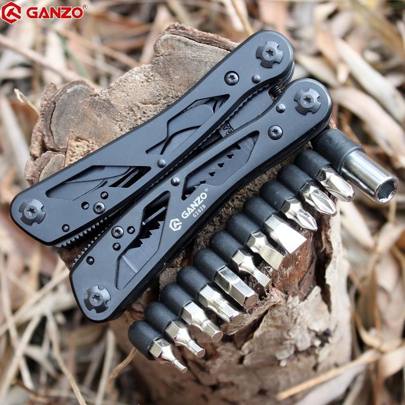 Tools : Ganzo Multitools G202B Multi Knife Plier Folding EDC Tools Camping Multifunctional Folding Plier Screwdriver Bits Mini Scissors