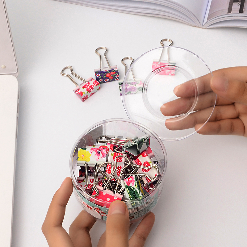 24 Pcs/lot Kawaii Metal Photo Paper Clips Mini Cute Decoration School Office Supplies Gift Stationery 19*38mm