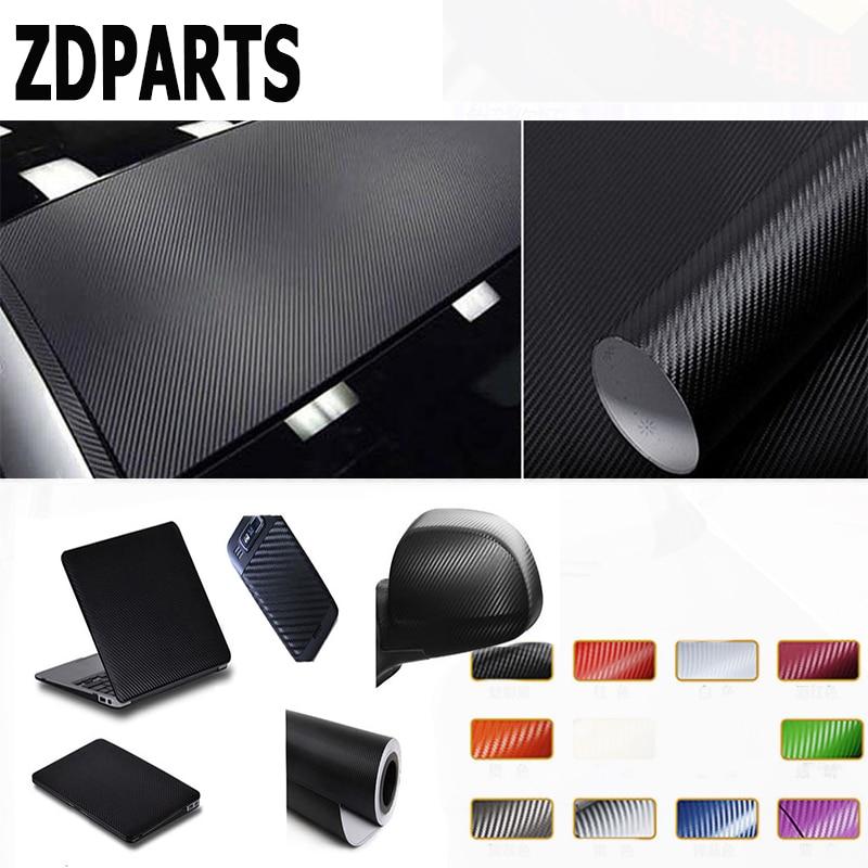 ZDPARTS 3D 30*127CM Car Styling Carbon Fiber Stickers 10Colors For Toyota Corolla Avensis Rav4 c-hr Mitsubishi Asx Infiniti Q50