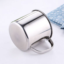 200/380ML Stainless Steel Camping Mug Cup Water Bottle Handle Lightweight Coffee Tea Outdoor Household Cups