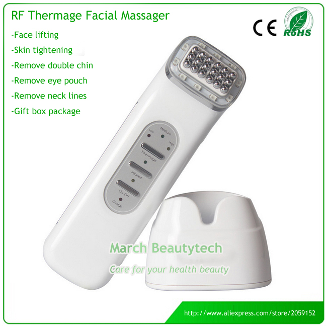 DHL Shipping Portable RF Thermage Beauty Device Skin Whitening Anti-wrinkle Eletric Infrared Radio Frequency Facial Massager portable mini handheld rf radio frequency skin lifting facial rejuvenation beauty massager for wrinkle free shipping
