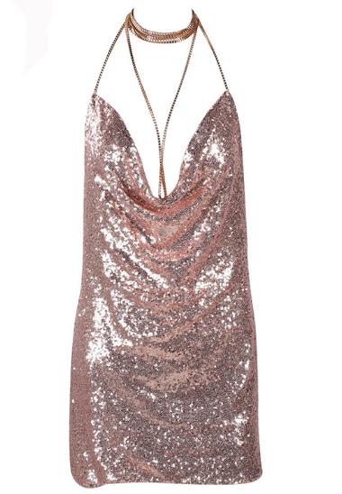 HTB1I0rwPpXXXXcLXpXXq6xXFXXX4 - FREE SHIPPING Front Draped Backless Halter Sparkle Women's Sequin Dress JKP297