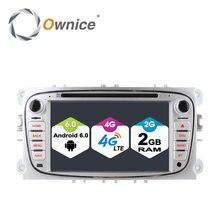 Ownice c500 2din android 6.0 4 core auto dvd-player für ford Mondeo S-MAX Verbinden FOCUS 2 2008-2011 Mit Radio GPS 4G LTE Netzwerk