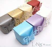 100pcs/lot Butterfly Pattern Favor Favour Gift Candy Box Bomboniere Boxes Wedding Party Baby Shower