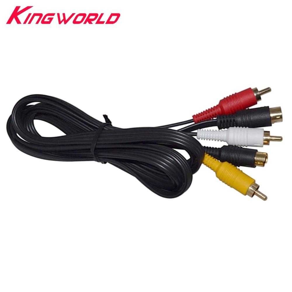 Nouveau câble de cordon Audio vidéo s-video AV RCA pour SEGA Saturn SS