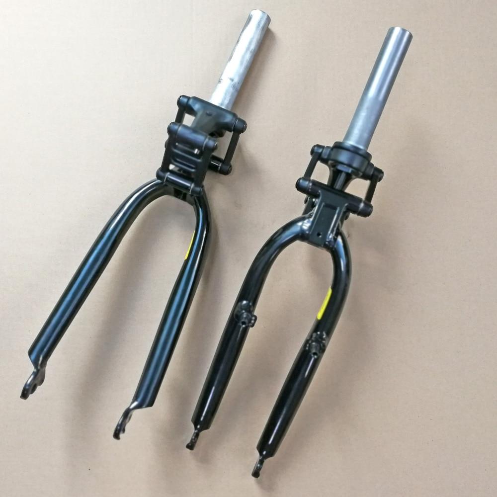 Folding bicycle BMX bike 20-inch suspension front fork shock absorber Disc/V brake front fork open file 74mm100mm