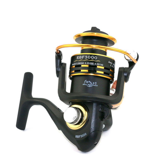 HENGJIA Hot Sale RBF500 - 6000 Series Ratio 5.2:1 Spinning Fishing Reel Spinning Reel Fishing Wheel fishing tackle