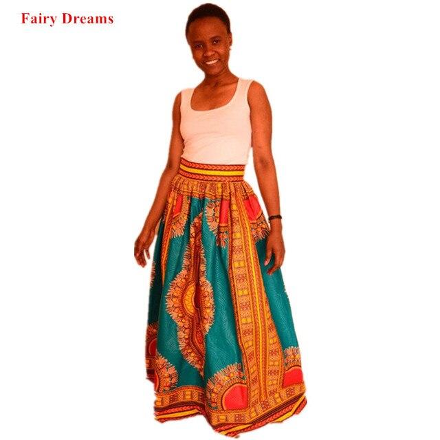 87f0df3368 Women Plus Size Africa Clothes 4XL Pleated Skirts Ankara Indian African  Digital Print Summer Autumn Fashion