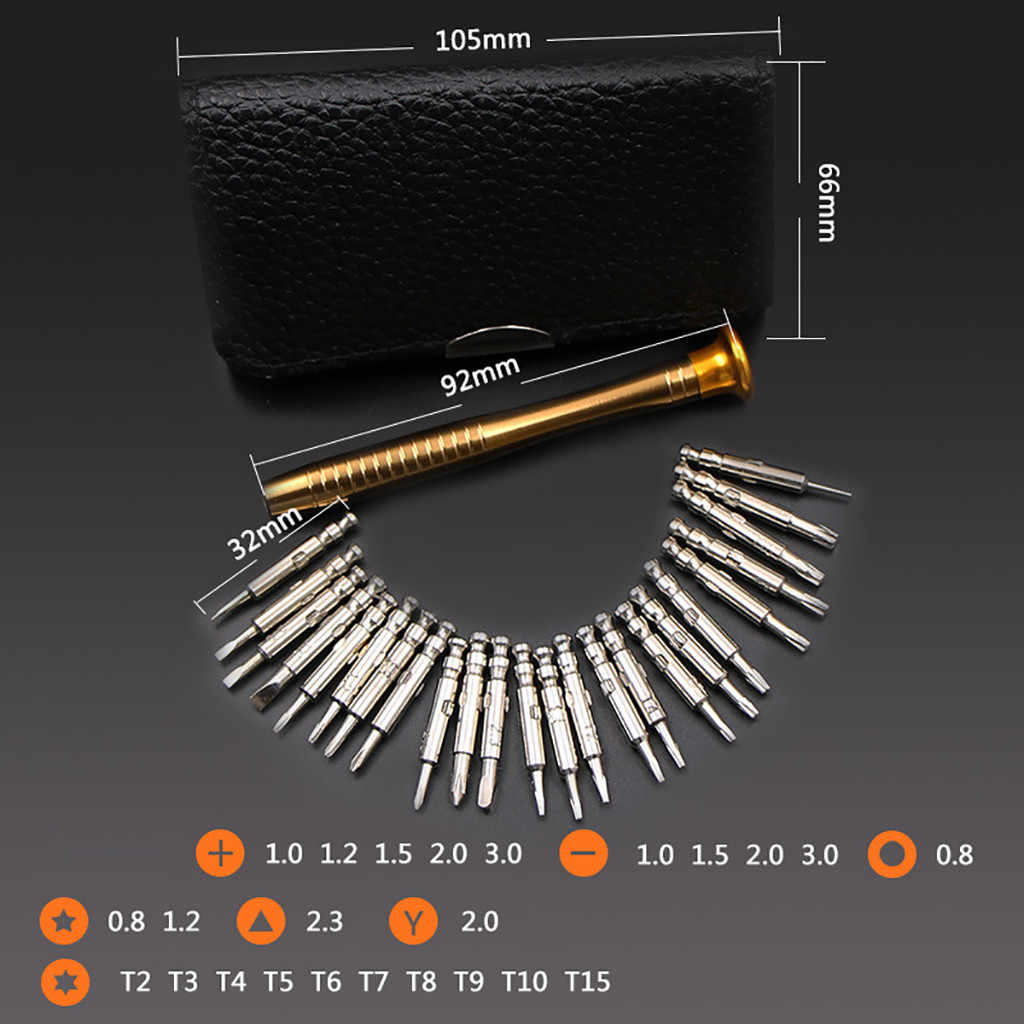 25 PC Small Mini Precision Screwdriver Set Watch Jewelry Electronic Repair Tools 2019 Drop Shipping Hot Sale