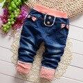 2017 outono Meninos e Meninas Do Bebê calças Jeans, Crianças Padrão de Moda calças, V1883/V1884