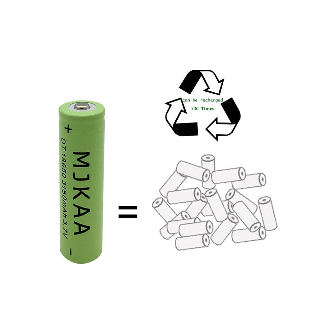 Baterias Recarregáveis 2 pcs 18650 bateria recarregável Conjunto : Pacote 1