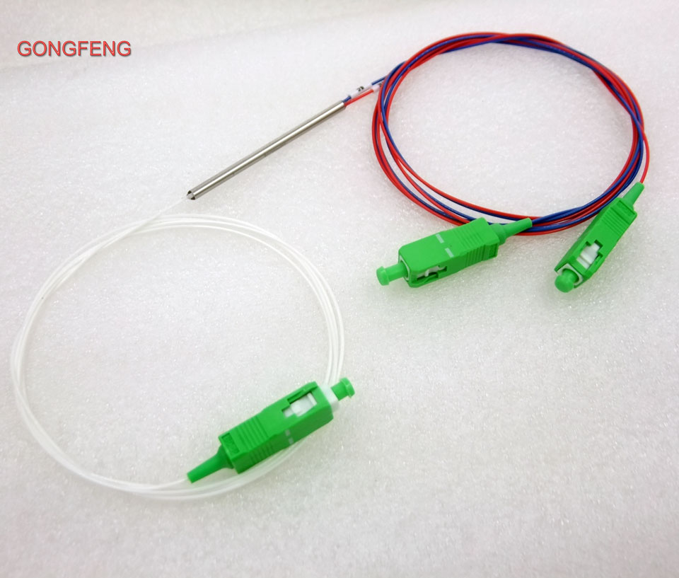 Special Wholesal10pcs New 0 9mm SM Steel Tube 1x2 Mini Blockless SC APC 2 Ports Pull