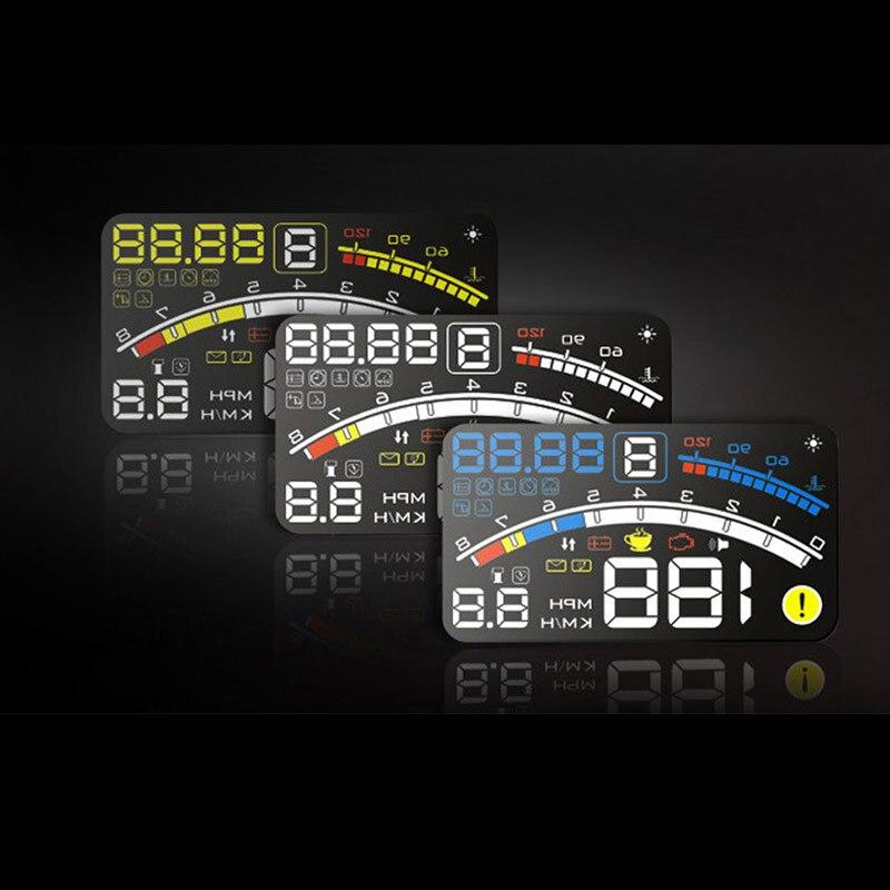 Автомобилей HUD Head Up Дисплей автомобиля OBD2 II EOBD превышения скорости предупреждение Системы проектор лобовое стекло авто электронный Напряже