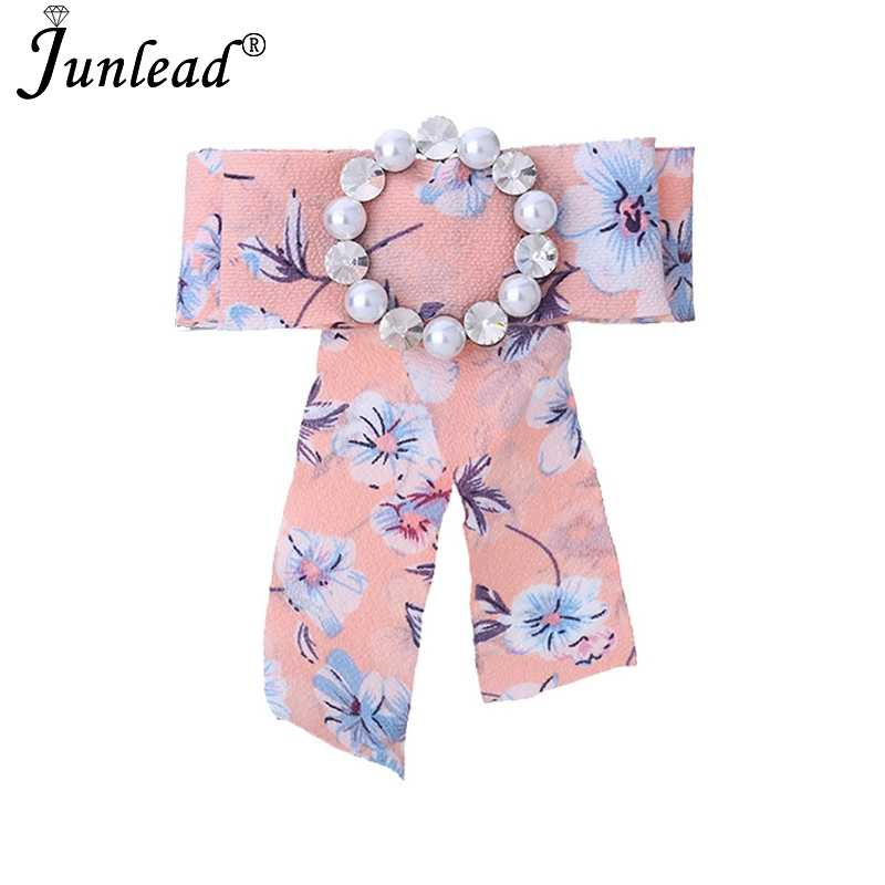 77550872b8c02 Junlead New Cheap Collar Print Tie Shirts Dress Corsage Jewelry Flower  Flamingo Ribbon Bow Knot Pearl Brooch and Pins For Women