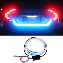 1pcs Flowing LED DRL Strip Car Tail Light Trunk Daytime Running Turn Signal Lamp For Passat B6 Scirocco Golf 6 7 MK4