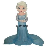 Hot Sale Cartoon Character Princess Elsa Dress from Hot Movie Elsa Mascot Costume Theme Free shipping