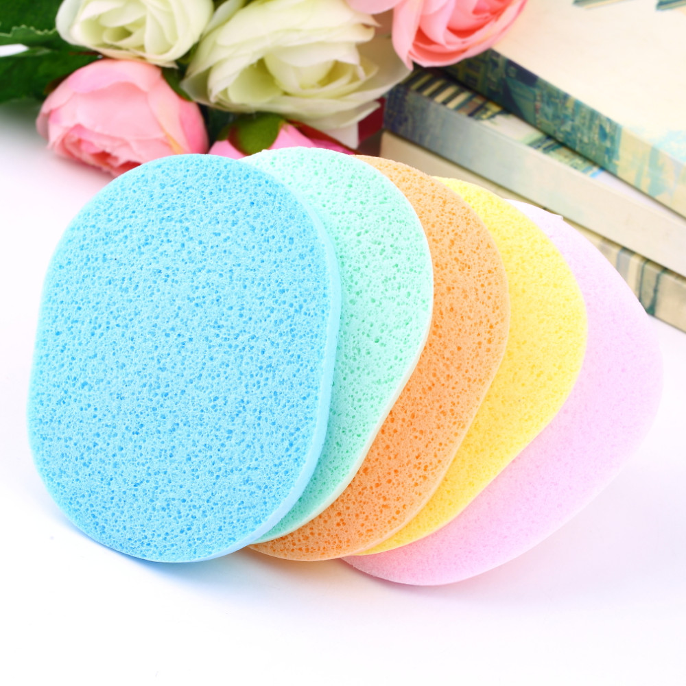 new arrival 1 pc Natural Wood Fiber Face Wash Cleansing Sponge Beauty Makeup To
