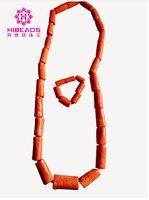 2017 Mężczyźni Koral Koraliki Afryki Nigerii Coral Zestaw Biżuterii Naszyjnik Bransoletka Zestaw Biżuterii Ślubnej dla Pana Młodego Człowieka Darmowa Wysyłka ABH454