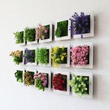 1 шт., креативная 3D стерео имитация растений, фоторамка, настенная подвесная Фреска для дома, сада, магазина, бара, Настенный декор, хороший подарок