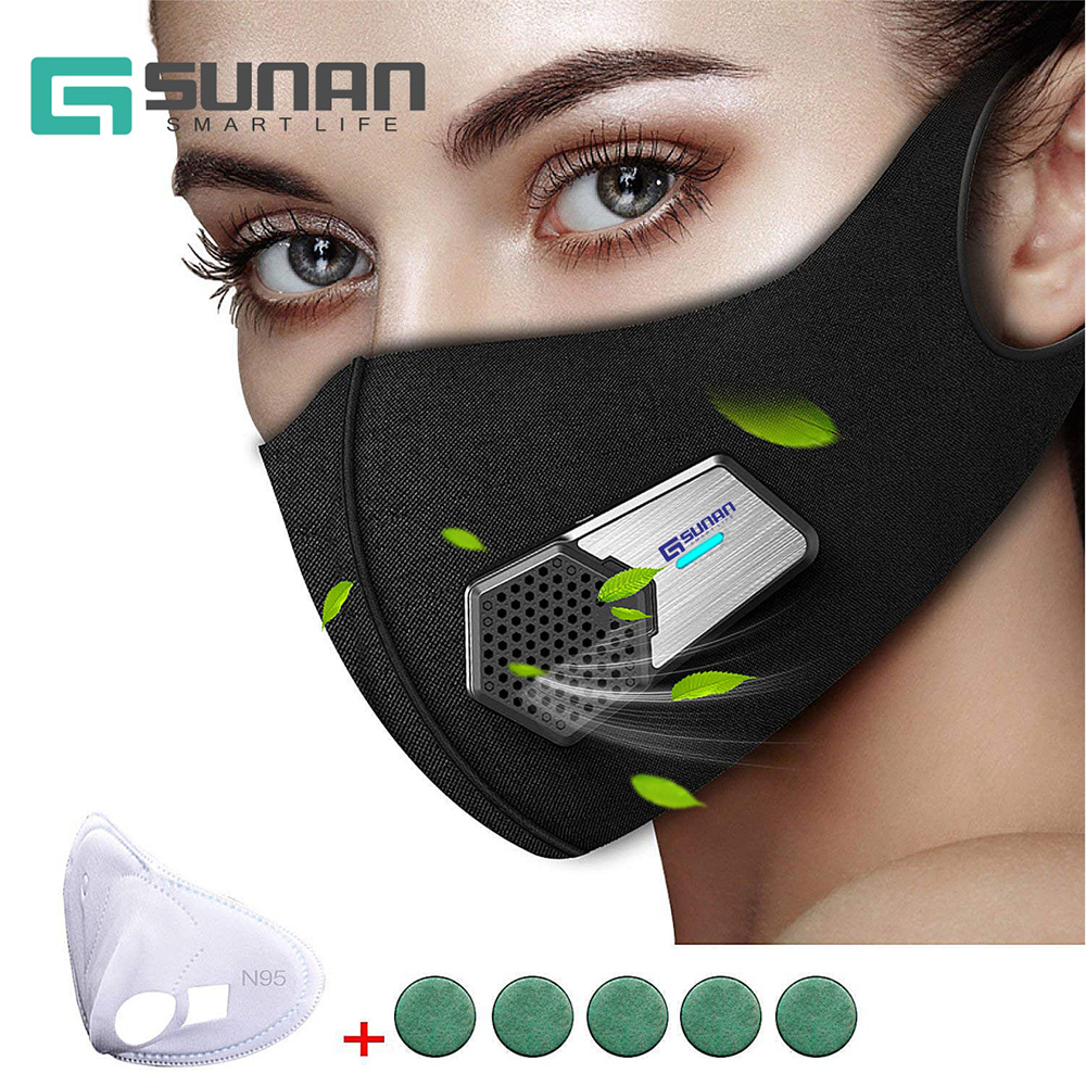 Electric Anti Dust Mask,Black Safety Sports Training Mask 2.0 Best Face Sport Face Respirator Mask Light Weight for Men Women fdbro sport mask outdoor men and women sports masks for good quality training sport fitness mask 2 0 eva package with box free