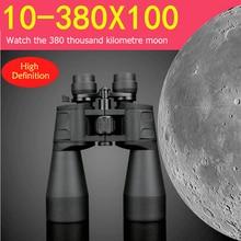 10-380X100 бинокъл Hd мощен военен високи времена мащабиране телескоп Lll нощна визия за лов Къмпинг туризъм часовник луна