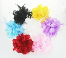 women Hair Clip New Style Hair Accessories girl Flower Feather Head Flower Wedding Bridal Corsage brooches