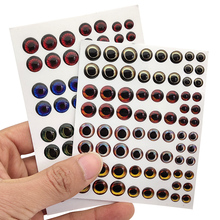 Fishing Lure Eyes 72pcs/set 4D Simulation Laser Saltwater Fishing Wobblers Artificial Bait Fish Eyes Mixed Color 6mm/8mm/10mm