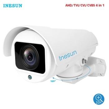 Inesun 10X Zoom PTZ Outdoor Security Camera 5MP Super HD 4 in 1 TVI/CVI/AHD/CVBS CCTV Camera Waterproof 100ft IR Night Vision